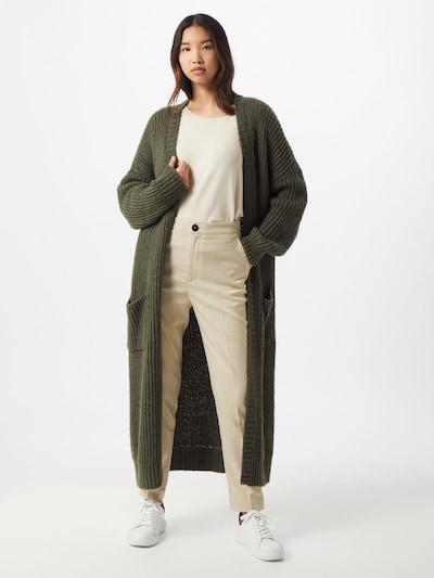 Herrlicher Strickjacken 'Jael' in oliv, Modelansicht
