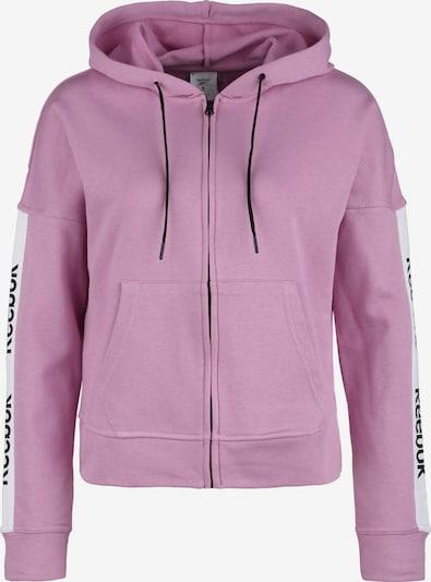 REEBOK Sweatjacke in pink, Produktansicht