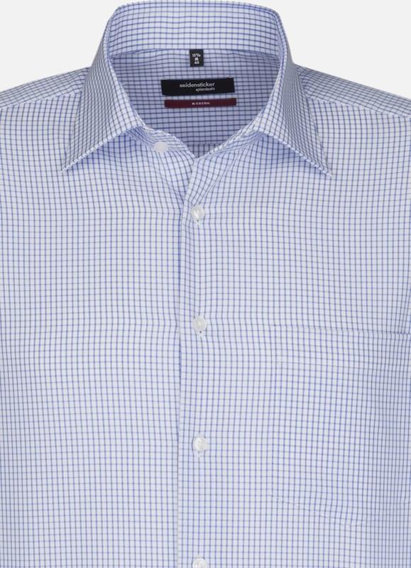 SEIDENSTICKER City-Hemd 'Modern' in blau   weiß weiß weiß  Neu in diesem Quartal a30aba
