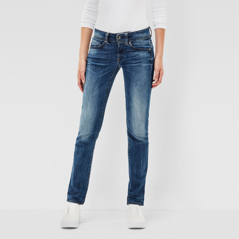G-STAR RAW 'Midge Saddle Mid Straight' Jeans