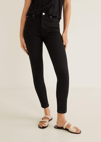 MANGO Jeans 'noa' in black denim: Frontalansicht