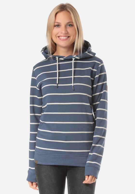 Lakeville Mountain Sweatshirt 'Mara Striped K' in de kleur Blauw, Productweergave