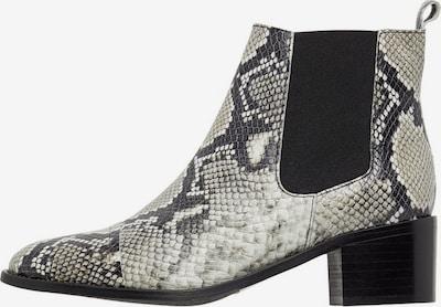 Bianco Bedruckte Leder Chelsea Boots in grau / schwarz / weiß, Produktansicht