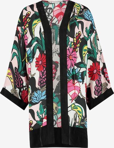 Loom&Lace Kimono in grün / pink / schwarz / weiß, Produktansicht