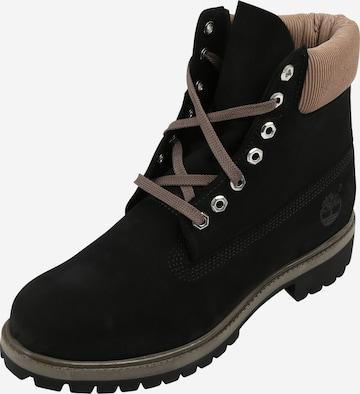 TIMBERLAND Boots med snörning i svart