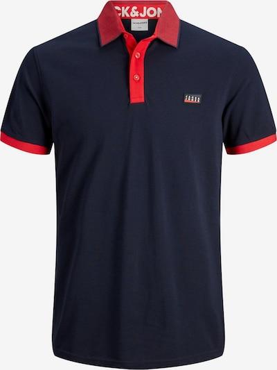 JACK & JONES T-Shirt en bleu foncé / rouge, Vue avec produit
