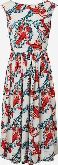 L.K.Bennett Kleid 'DR ISSIE' in grün / rot / weiß, Produktansicht