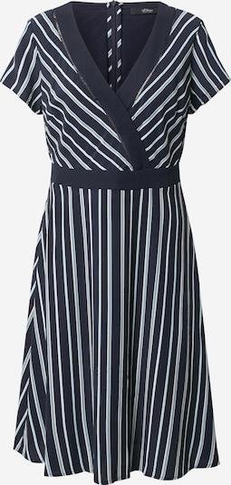 s.Oliver BLACK LABEL Kleid in kobaltblau / pastellblau / weiß, Produktansicht