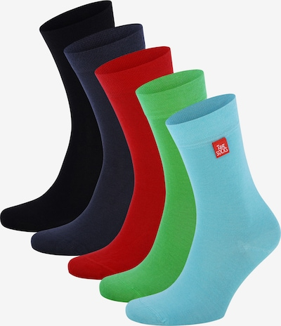 Tag SOCKS Socken 'Single Party' in hellblau / dunkelgrau / kiwi / feuerrot / schwarz, Produktansicht