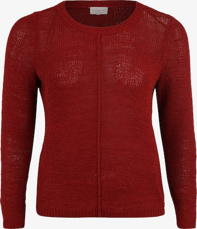 ONLY Carmakoma Trui 'CARFOXY L/S PULLOVER ESS' in de kleur Rood, Productweergave