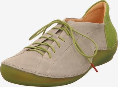 THINK! Schnürschuhe in hellgrau / grün, Produktansicht