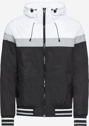 Urban Classics Jacke in hellgrau / schwarz / weiß, Produktansicht