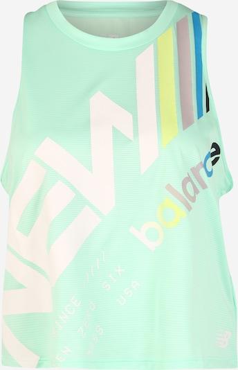Sportiniai marškinėliai be rankovių iš new balance , spalva - mėtų spalva / balta, Prekių apžvalga