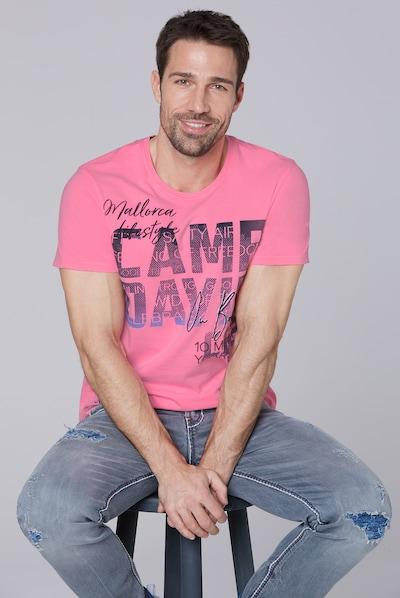 CAMP DAVID T-Shirt mit Photoprint Logo in pink: Frontalansicht
