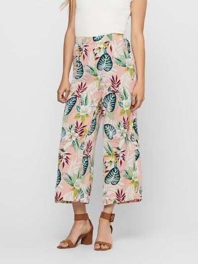 ONLY Kalhoty se sklady v pase - mix barev / starorůžová, Model/ka