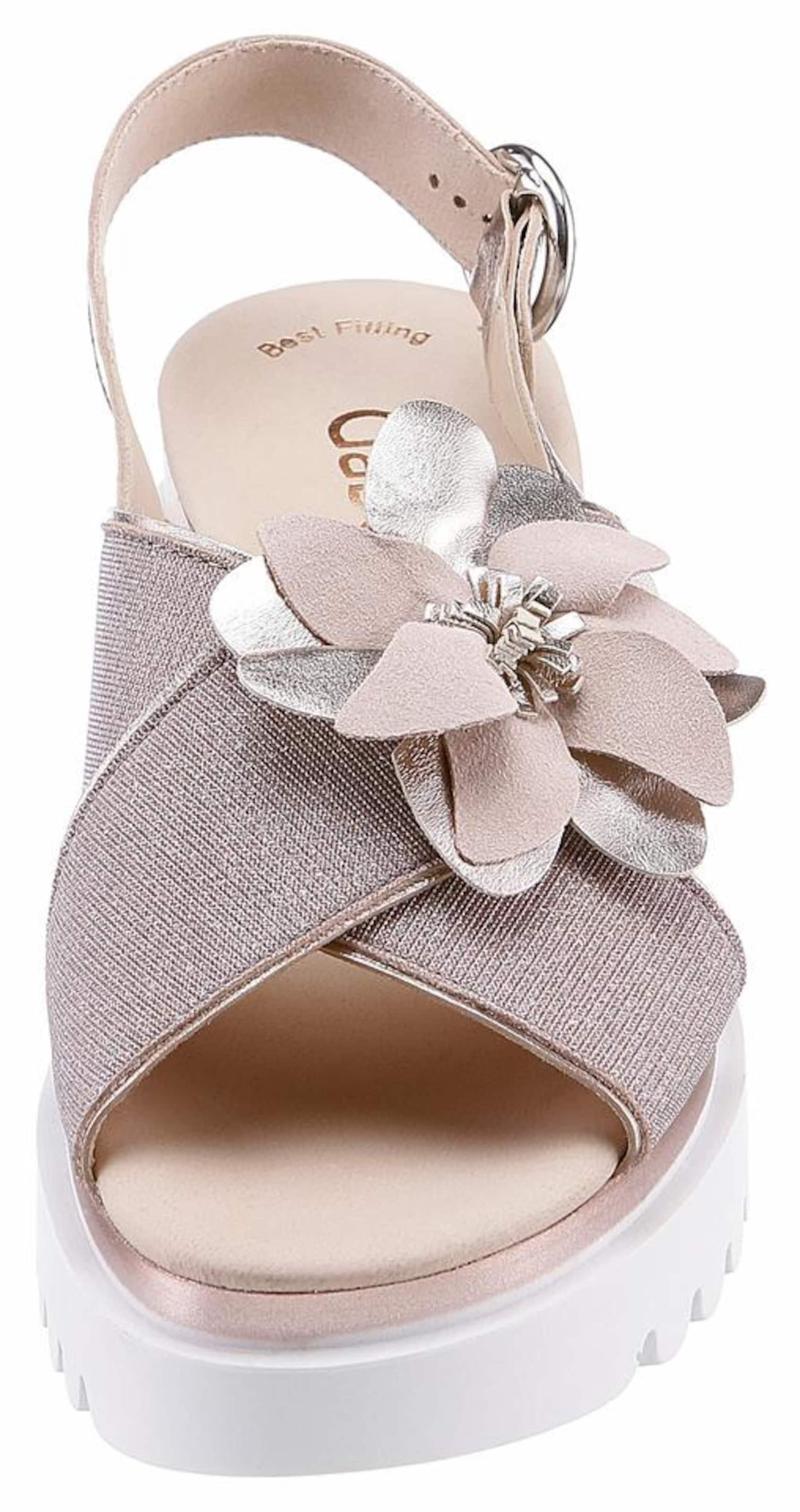 Sandalette CremeRosegold Gabor In Silber Weiß nN0wv8Om