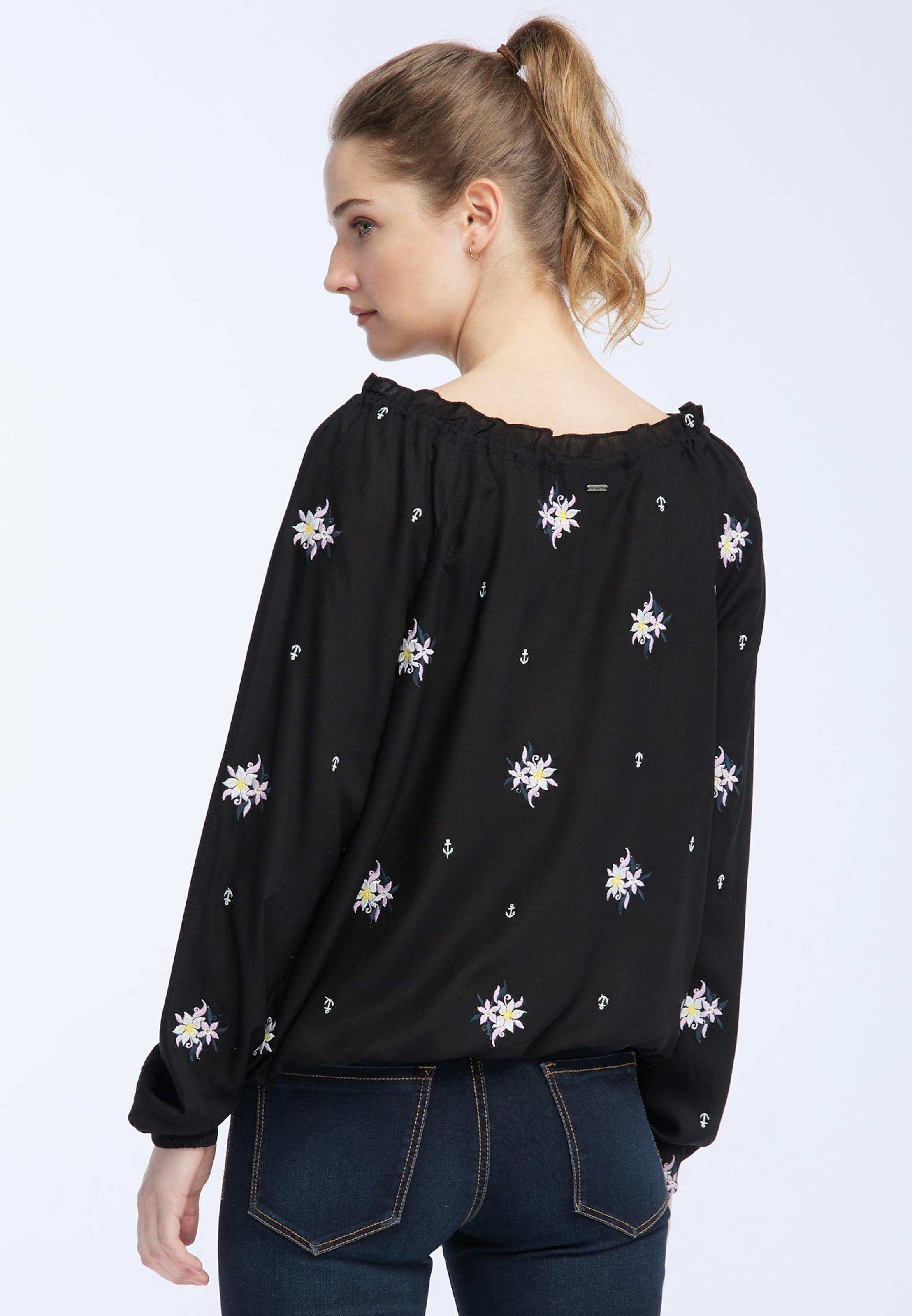 Weiß Dreimaster Blusen shirt In LavendelSchwarz n0PwOkX8