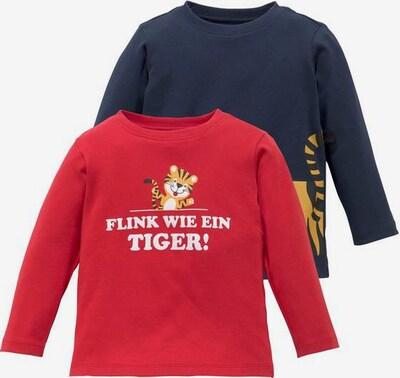 KLITZEKLEIN Shirt in dunkelblau / rot / weiß, Produktansicht