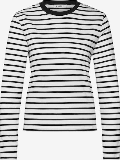 EDITED Langarmshirt 'Pixie' in schwarz / weiß, Produktansicht