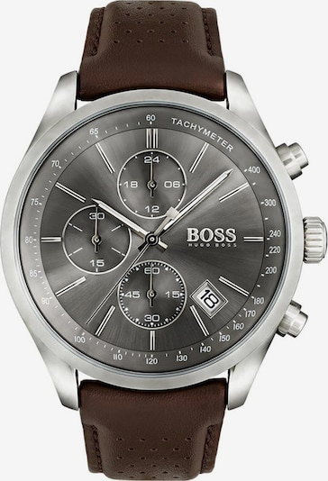 BOSS Chronograph 'GRAND PRIX CASUAL SPORT' in braun: Frontalansicht