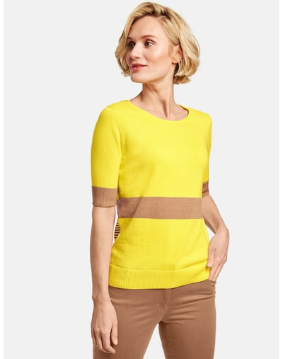 GERRY WEBER Pullover in braun / gelb, Modelansicht