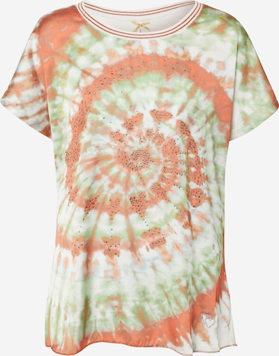 Key Largo T-Shirt 'WT SWIRL round' in mischfarben / orange / offwhite, Produktansicht