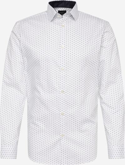 SELECTED HOMME Hemd in taubenblau / weiß, Produktansicht