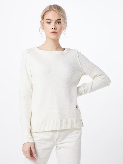 ESPRIT Pullover  'slubseaming sweater' in offwhite, Modelansicht