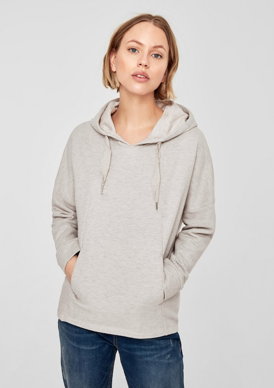 s oliver red label oversized hoodie mit glitzereffekt in grau about you. Black Bedroom Furniture Sets. Home Design Ideas