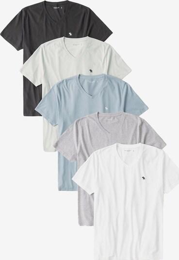 Abercrombie & Fitch T-Shirt in taubenblau / hellgrau / graumeliert / schwarz / weiß, Produktansicht