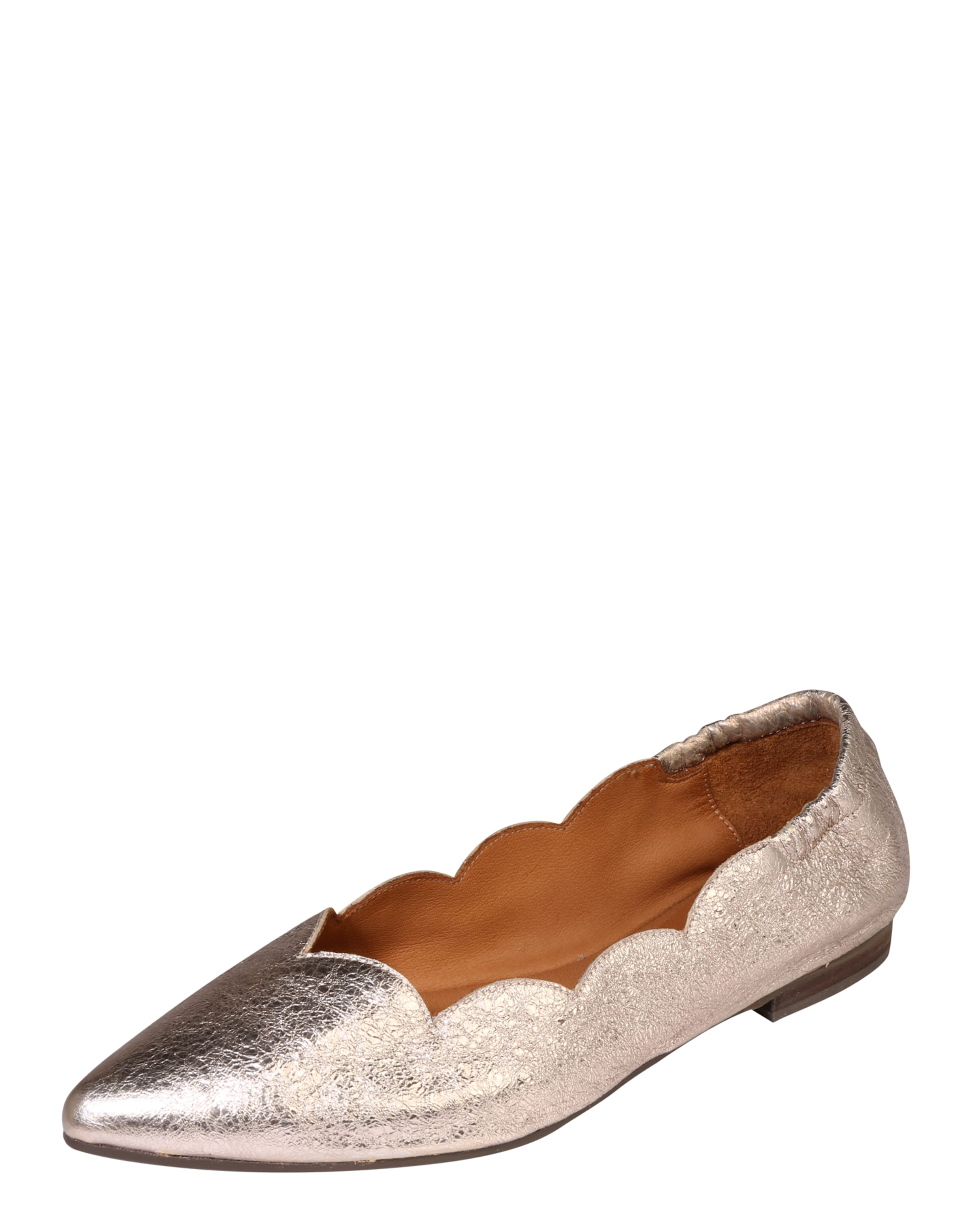 Billi Bi | Ballerina 'Wave' in Metallic-Optik Schuhe Gut Gut Gut getragene Schuhe 454752
