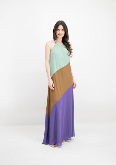 Nicowa Maxikleid 'VANIA' in türkis / braun / dunkellila, Modelansicht