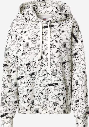 LEVI'S Sweatshirt '2020 HOODIE' in de kleur Zwart / Wit, Productweergave