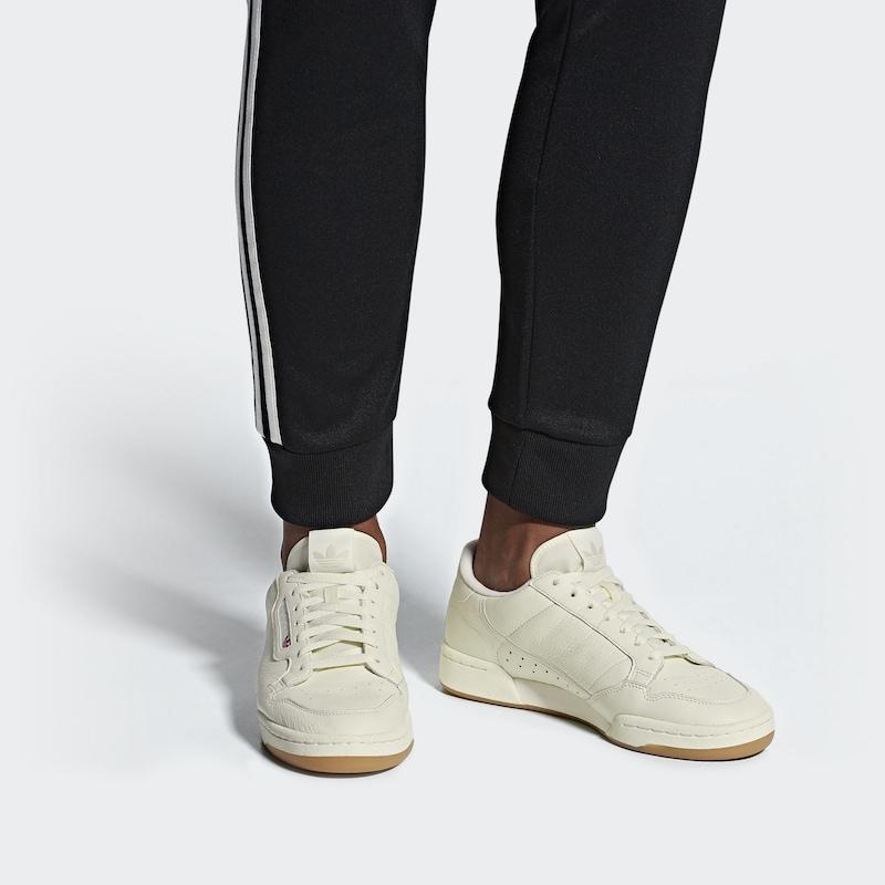 En Blanc Basses Adidas Baskets 80' Cassé Originals 'continental KT13JFcl