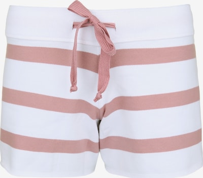 Juvia Sweatshorts 'FLEECE STRIPE' in rosé / weiß, Produktansicht