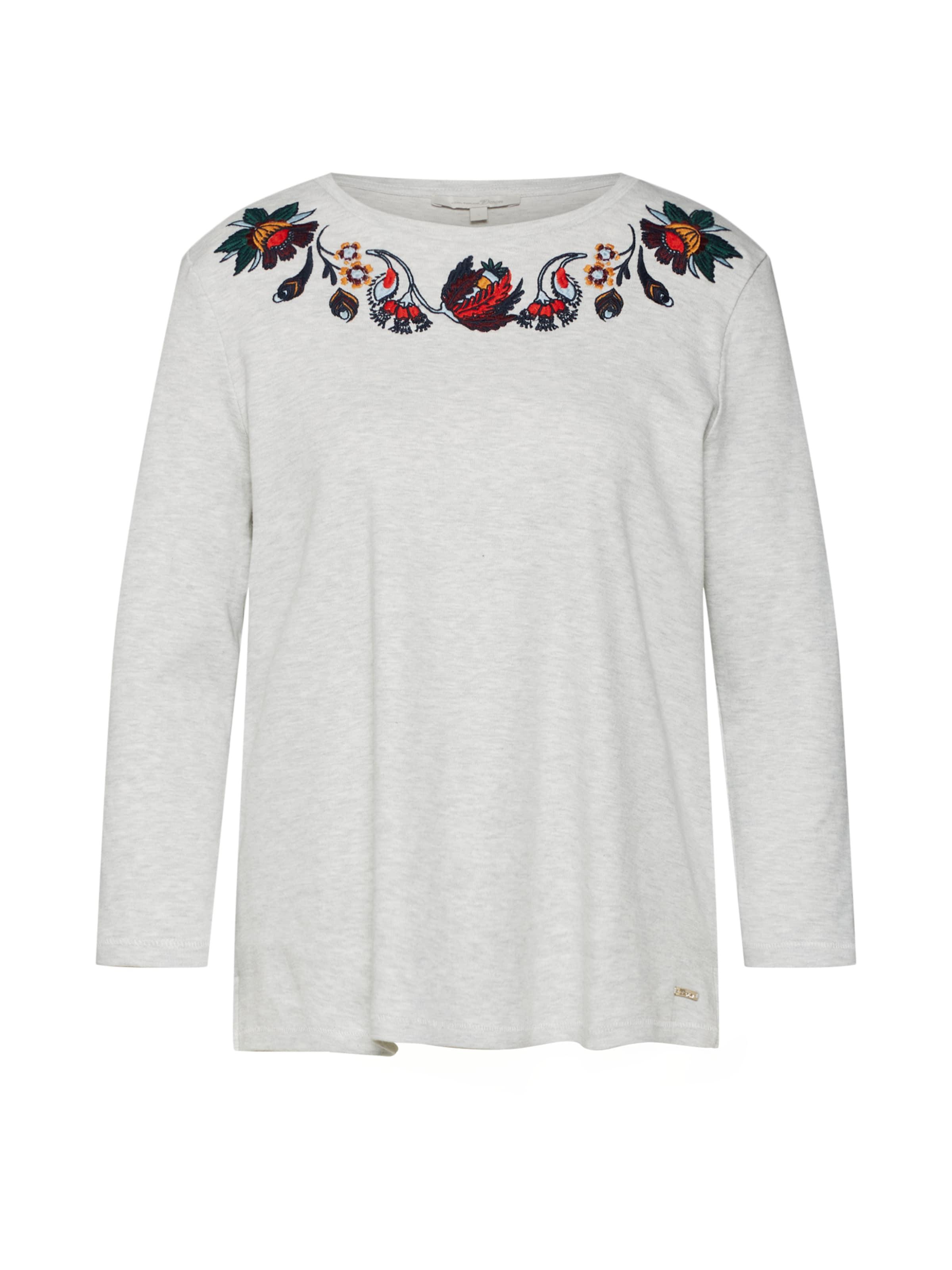 In HellgrauMischfarben Shirt Tailor 'flower Tom Embroidery' Denim pMGzVSqU