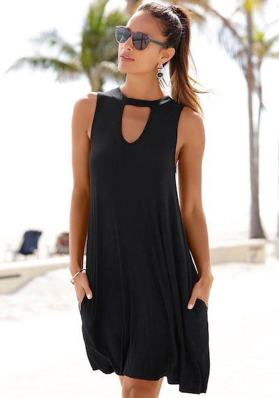 BEACH TIME Strandkleid in schwarz, Modelansicht
