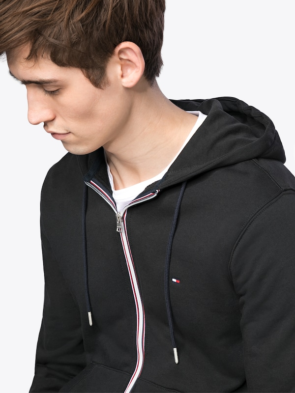 TOMMY HILFIGER Sweatjacke 'COTTON ZIP HOODIE'