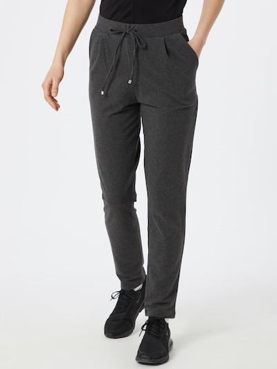 ABOUT YOU Pantalon à pince 'Carina' en gris foncé / gris chiné, Vue avec modèle