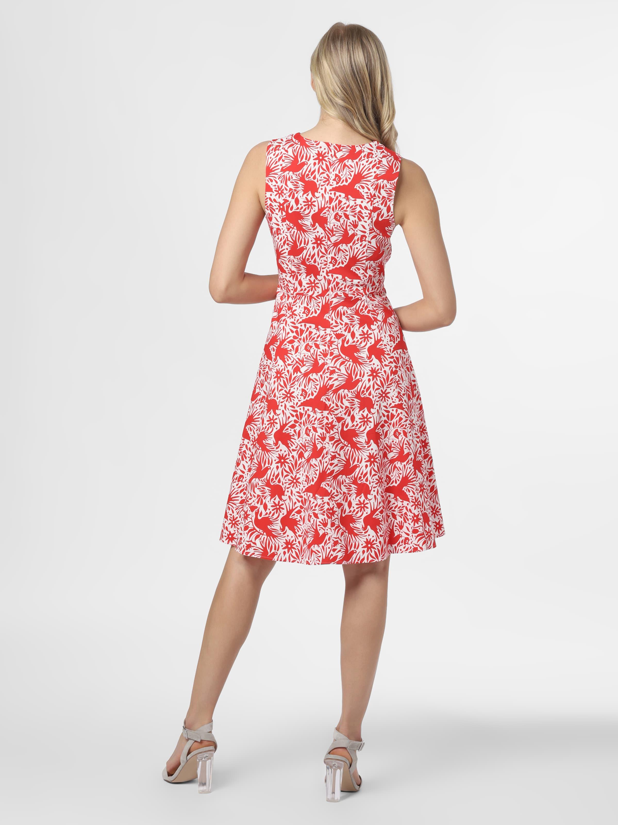 Marie Lund Kleid in rot / weiß