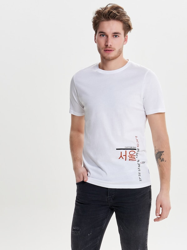 Only & Sons Print T-Shirt