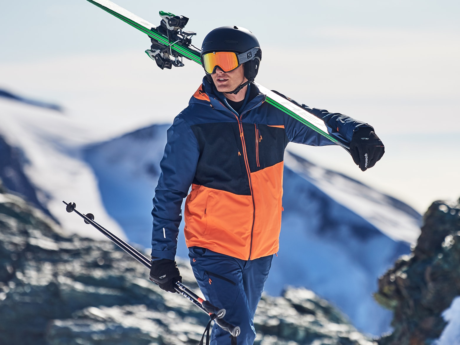 Luca - Blue and Orange Ski Look