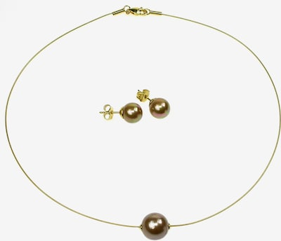 Perlas Orquidea Set 'The Floating Pearl Brown' in braun / gold, Produktansicht