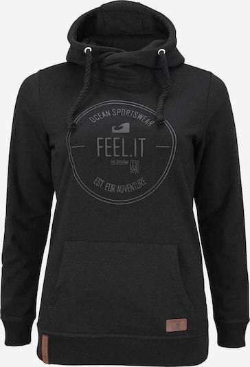 OCEAN SPORTSWEAR Kapuzensweatshirt in grau / schwarz, Produktansicht