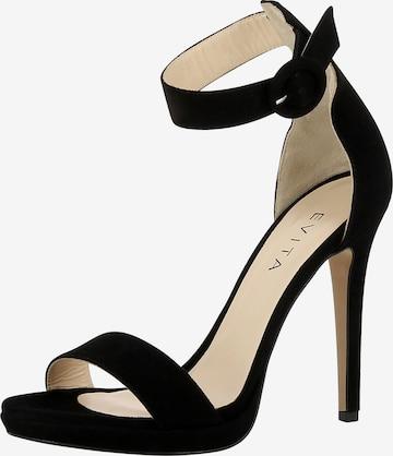 EVITA Sandalen met riem 'EVA' in Zwart
