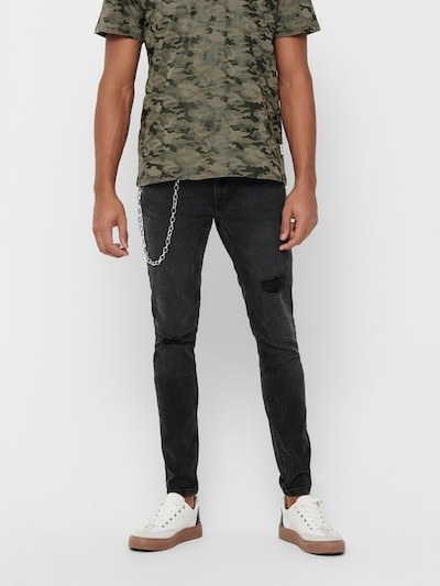 Only & Sons Jeans in black denim, Modelansicht