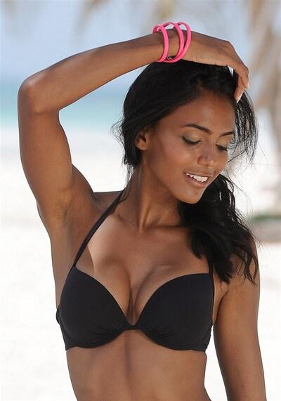 BUFFALO Bikini zgornji del 'Happy' | črna barva, Prikaz modela