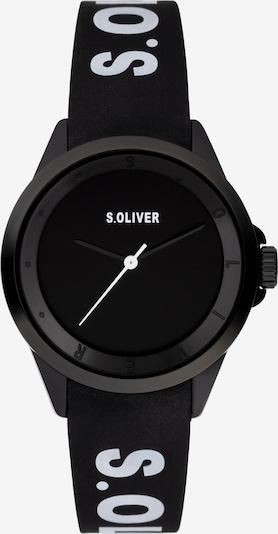 s.Oliver Uhr in schwarz / weiß, Produktansicht