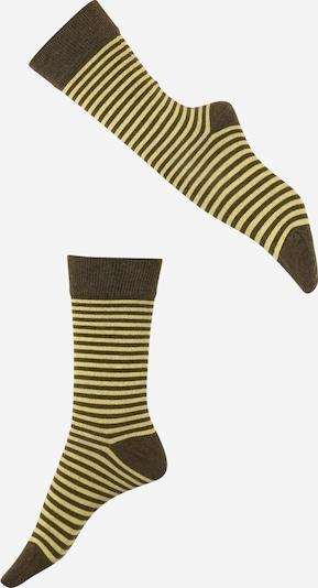 DillySocks Strümpfe 'Yellow Liner' in gelb / grau, Produktansicht