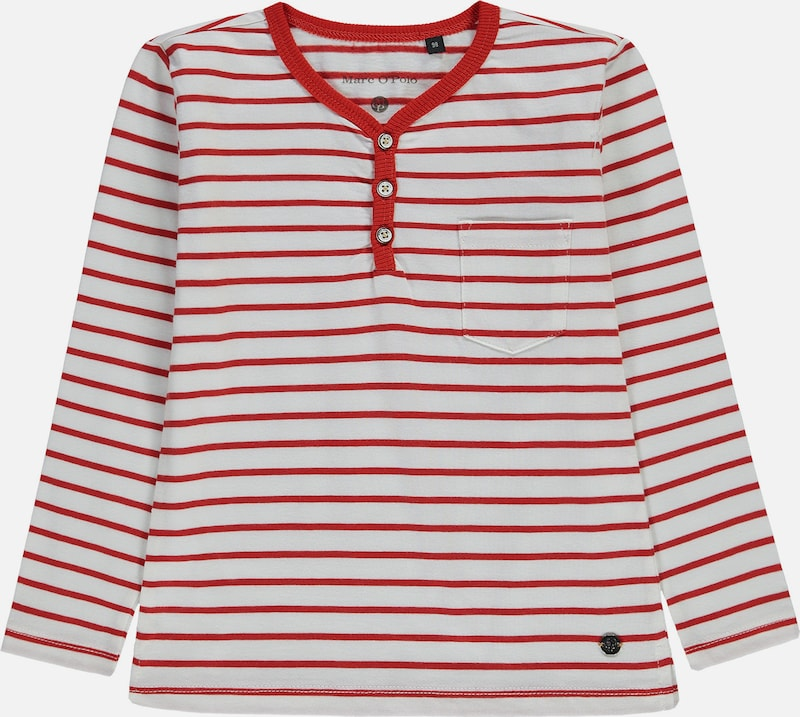 Marc O'Polo Junior Henleyshirt in rot / weiß, Produktansicht